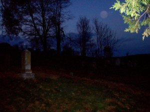 Virginia Cemetary at Night