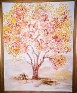 Autumn Cottonwood Tree by Lulu Brymer